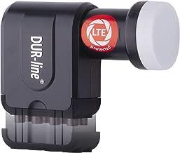 DUR-line +Ultra Octo LNB - 8 Teilnehmer schwarz - mit LTE-Filter [ Test SEHR GUT ] 8-Fach, digital, Full HD, 4K, 3D, Sieger - Premium-Qualität