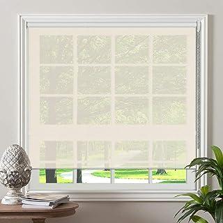 "PASSENGER PIGEON Solar Window Shades, Premium Light Filtering UV Protection Flame Retardant Water Proof Custom Made Roller Shade, 34"" W x 82"" L, White"