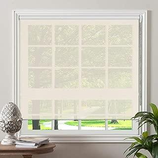 PASSENGER PIGEON Solar Window Shades, Premium Light Filtering UV Protection Flame Retardant Water Proof Custom Made Roller Shade, 34