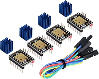 Kingprint TMC2208 V3.0 UART Stepper Damper with Heat Sink Driver, Replacement Damper for A4988 DRV8825 for 3D Printer (4 Pieces)