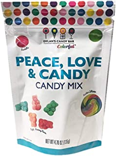Dylan's Candy Bar Colorful Candy Mix Gummy Candy 4.70oz (Peace Mix)