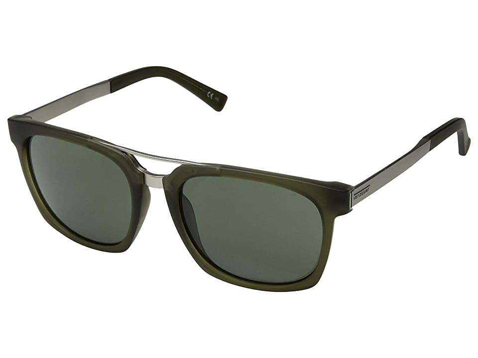 VonZipper Plimpton (Forest Satin/Grey/Green) Fashion Sunglasses
