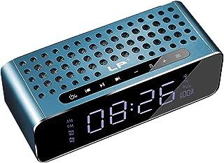 GLJJQMY Bluetooth Speaker Portable Overweight Subwoofer Car Alarm Clock Subwoofer Cannon Sound (Color : Blue)