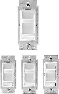 Leviton 6674-P0W, 4-Pack, White