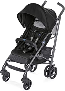 Chicco Lite Way 3 Basic with Bumper Bar Jet - Black