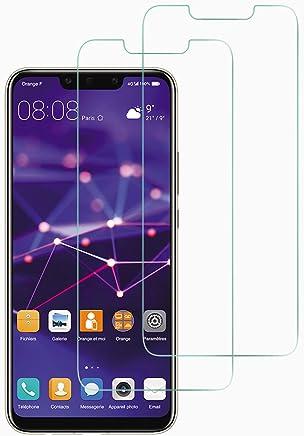 NEW'C Verre Trempé pour Huawei Mate 20 Lite/Honor Play,[Pack de 2] Film Protection écran - Anti Rayures - sans Bulles d'air -Ultra Résistant (0,33mm HD Ultra Transparent) Dureté 9H Glass