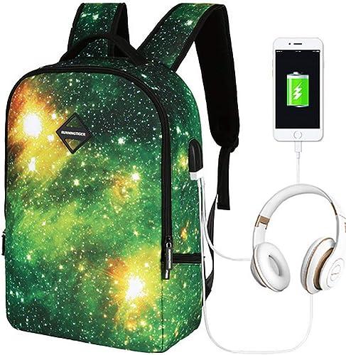 3D USB Schulrucksack Hohe Kapazit Camping Schultasche mädchen Junge Zum 8-14 Jahre Alt Wasserdicht Nylon Reise Rucksack Ideal Für 1-6 Größe,1