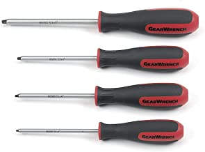 GEARWRENCH 4 Pc. Square Dual Material Screwdriver Set - 80065