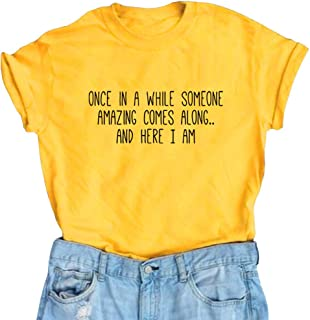 65c0eda318989 BLACKMYTH Women s Graphic Funny T Shirt Cute Tops Teen Girl Tees