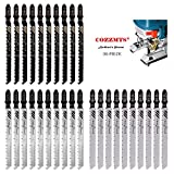 30PCS T-Shank Jig Saw Blade Set Replace for Bosch T101D T144D T101BR, Compatible DEWALT BLACK+DECKER TACKLIFE Makita SKIL Porter Cable Ryobi and Rockwell BladeRunner X2 Woodworking JigSaws