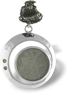 Starborn Creations Sterling Silver Moldavite, Muonionalusta and Campo del Cielo Meteorite Pendant