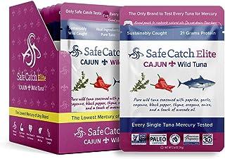 Safe Catch Elite Tuna, Lowest Mercury Wild Tuna Steak, Cajun Seasoning, Keto, Paleo, 12..