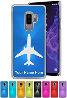 Case for Galaxy S9, S9+ Plus, Jet Airplane, Personalized Engraving Included