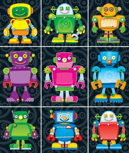 Carson Dellosa Robot Stickers—24 Sheets of Motivational Stickers for Homework, Tests, Assignments, Reward Stickers for Classroom or Homeschool (216 pc)