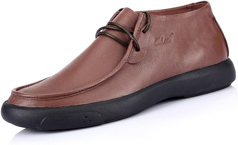 Les chaussures en cuir chaussures en cuir Pour des hommes occasionnel occasionnel populaire européenne lache des chaussures confortables,café,quarante - deux
