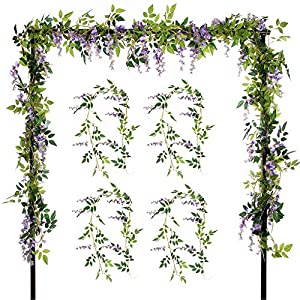 Wedding Party Home Garden Wall Decoration, Purple - Artificial Flowers