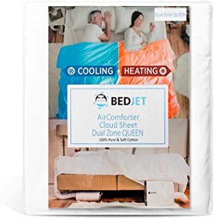 BedJet Cooling, Heating & Climate Control just for Your Bed (Cloud Sheet Dual Zone Queen)