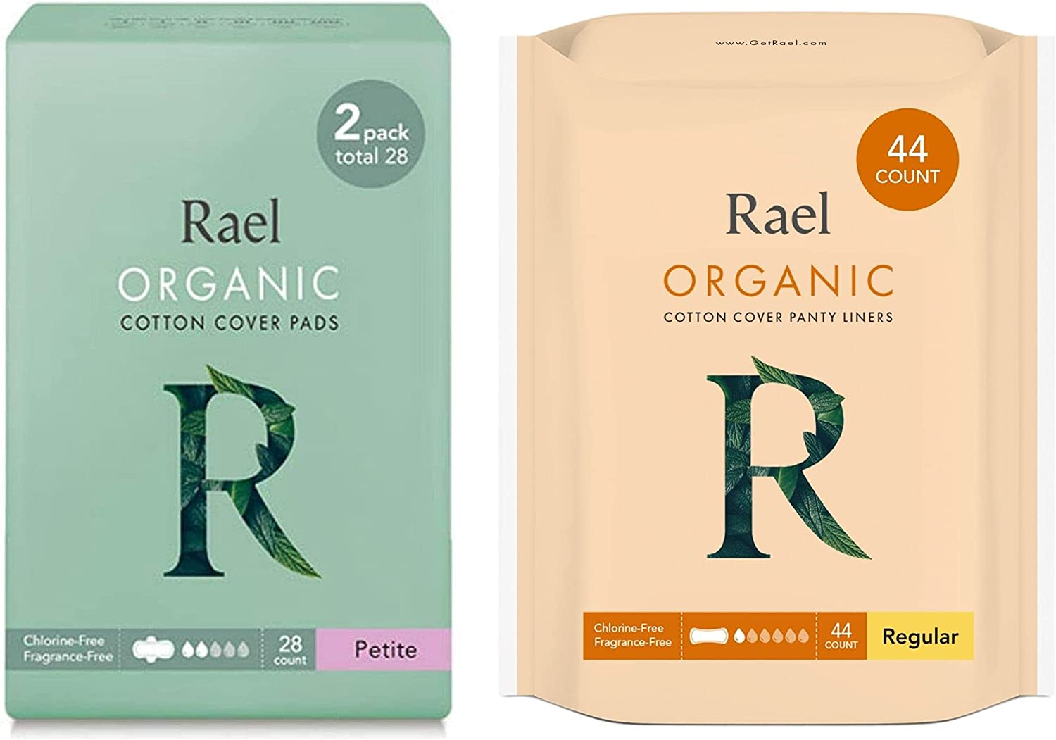 Rael Phoenix Mall Certified Organic Cotton Petite 28 Super Special SALE held Count Lin Pads Panty