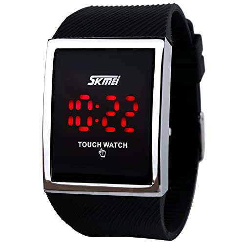 SKMEI Touch Screen Digital LED Waterproof Boys Girls Sport Casual Wrist Watches Black