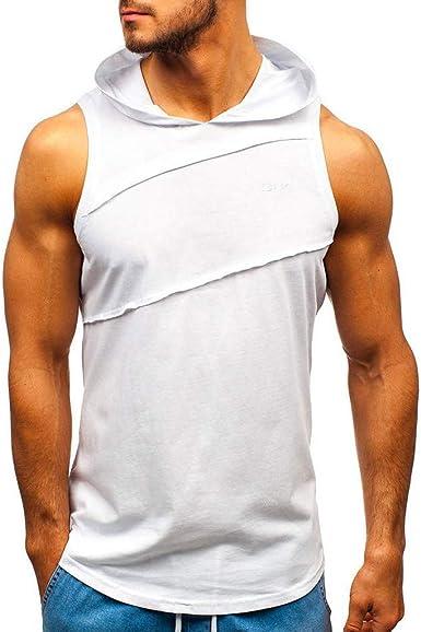 Camisetas Hombre,Overdose Verano Casual Patchwork Sólido con ...