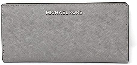 Michael Kors Jet Set Travel Leather Large Card Case Carryall Wallet with Removable ID Card Holder