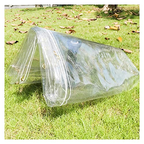 JYW-coverS YANJINGYJ Cubierta PVC Lona, Exteriores Protección Toldo, Jardín Impermeable Canvas for GardenMate Muebles Gazebo Intemperie, 700g /m², 0.3mm (Color : Clear, Size : 3x5m)