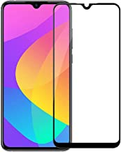 POPIO Tempered Glass Screen Protector For Xiaomi Mi A3 (Black) Edge to Edge Full Screen Coverage With Easy Installation Kit