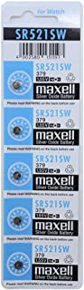 Maxell SR521SW Silver Oxide Button Cell Battery 5-Pack
