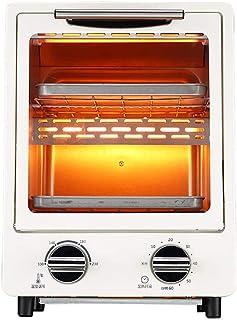 L.TSA Mini Horno eléctrico de Cocina, Mini Horno con Parrilla eléctrica, Mini Horno eléctrico y Parrilla, tostadora doméstica, Horno eléctrico Retro, Doble Espacio para Hornear, 60 Minutos de tiem