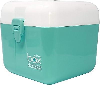 jk enterprise Uteki Multipurpose Semi-Transparent Plastic Storage Box Big Size with Handle and Removable Tray Pill Medicine Box