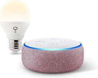 Echo Dot (3rd Gen) Plum bundle with LIFX Wi-Fi Smart Bulb