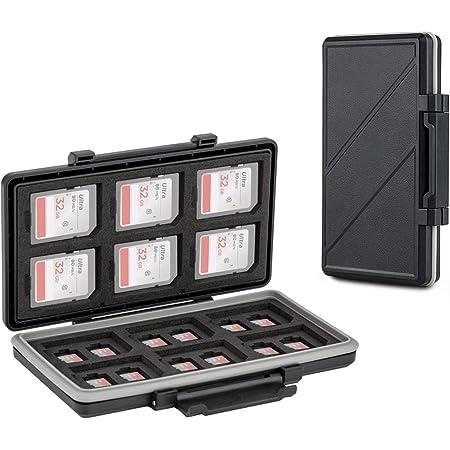 36 スロット SD SDHC SDXC Micro SD TF メモリーカード 収納ケース 12枚 SD + 24枚 MicroSD 適用 耐水 防塵 大容量