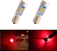 Dantoo 2 x Extremely Bright 1157 Brake Light LED 2057 7528 BAY15D Bulbs 21 SMD Brilliant Red Tail Lights LED Brake Bulbs Lamp Replacement