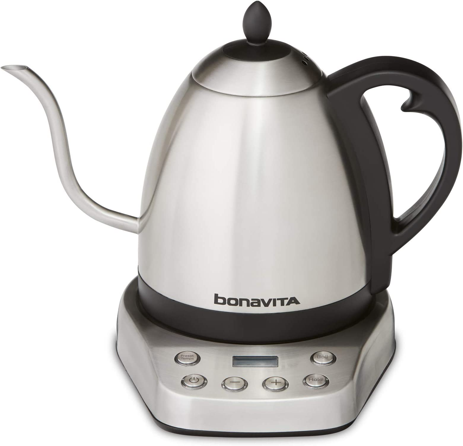 Bonavita BV07002US Interurban 1L Variable Temperature Brushed Stainless Steel Electric Kettle
