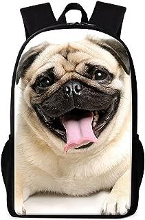 Dispalang Cute Dog 3D Print Backpack for Children School Bookbag Patterns for Girls Outdoor Back Pack