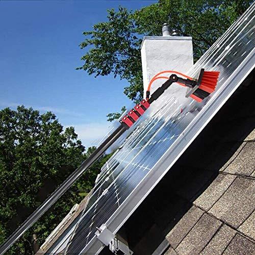 Teleskopstange Wasserführend, Teleskop Fensterputzer Profi Set, Verlängerungsstange, Für Wintergarten-und Solaranlagen-Reinigung / 5.4M