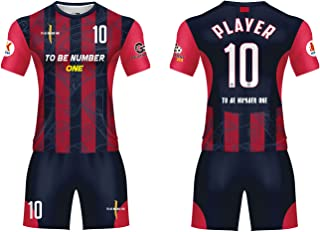 Custom Sportwear Team Soccer Jerseys 2019 Design red/Black Sport Uniform with Name and Number