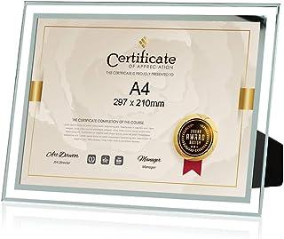 フォトフレーム A4 ガラス おしゃれ 写真 立て ポスター 感謝状 賞状額縁 ギフト スタンド タイプ