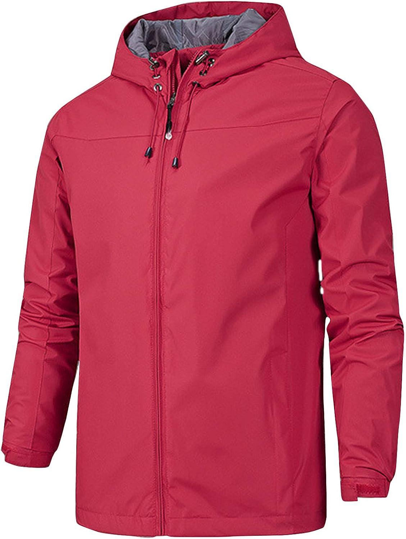 Award-winning store Flygo New arrival Men's Waterproof Hooded Windbreaker Lightweigh Rain Jacket