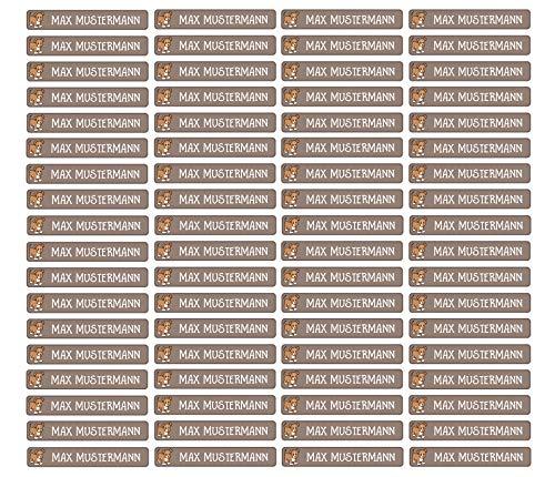 Stifteaufkleber für Bleistifte, Kugelschreiber & weitere Namensaufkleber - Aufkleber 49x7,5mm | 72 Stück Kinder & Erwachsene Schule & Kindergarten 37 Hintergründe in Auswahl (26 Hund)