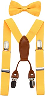 toddler yellow bow tie and suspenders