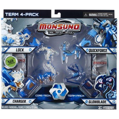 Giochi Preziosi 70249811 - Monsuno Combat Pack Nr. 1 Core Tech Team 4er