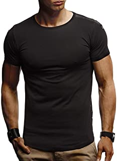 Save15% BBesty Men's Summer Causal Soild Color Muscle Round Neck Panel Sports Fitness Short Sleeve T-Shirt Tops