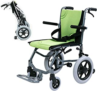 wheelchair Strong Folding, Travel with Brake,Portable Push Transport Lightweight Outdoor 330 lbs/150kg Weight Capacity