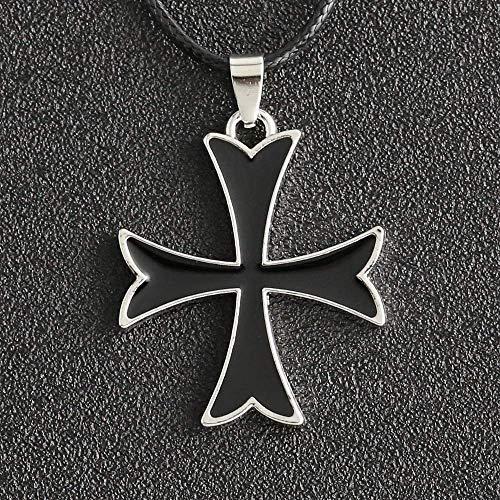 MAZ Assassins Odyssey Halskette Ritter Templer Ordnung Kreuz Christliche Kreuzfahrer Emaille Anhänger Film Spiel Schmuck Anhänger Größe 3.6 * 3 cm Kettenlänge 45 + 5 cm