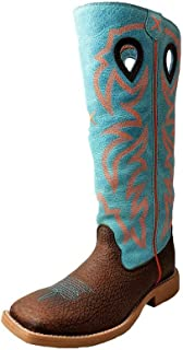 Twisted X Boots Boys Buckaroo Cowboy Boots 3.5 B(M) US Distressed Brown