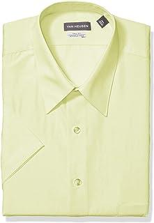 Van Heusen Mens Big Short Sleeve Poplin Solid Tall Fit Dress Shirt Dress Shirt