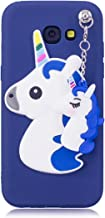 Unicorn Case For Samsung Galaxy 2017  Cover Soft Slim Fit Flexible Rubber Gel Lovely Cartoon Case For Samsung Galaxy 2017 Practical Anti-Scratch Shockproof Back Cover Blue