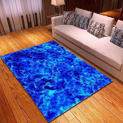 CURTAINSCSR Teppich Blaues Meer 160x230 cm Weicher Kurzflor rutschfest Teppich fürs Wohnzimmer, Kinderzimmer, Schlafzimmer und die…