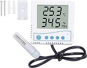 FEBT Termómetro para Interiores y Exteriores, Monitor de Temperatura y Humedad con sonda, medidor de Humedad con Pantalla LCD de Alta precisión, termómetro higrómetro(Cosa análoga)